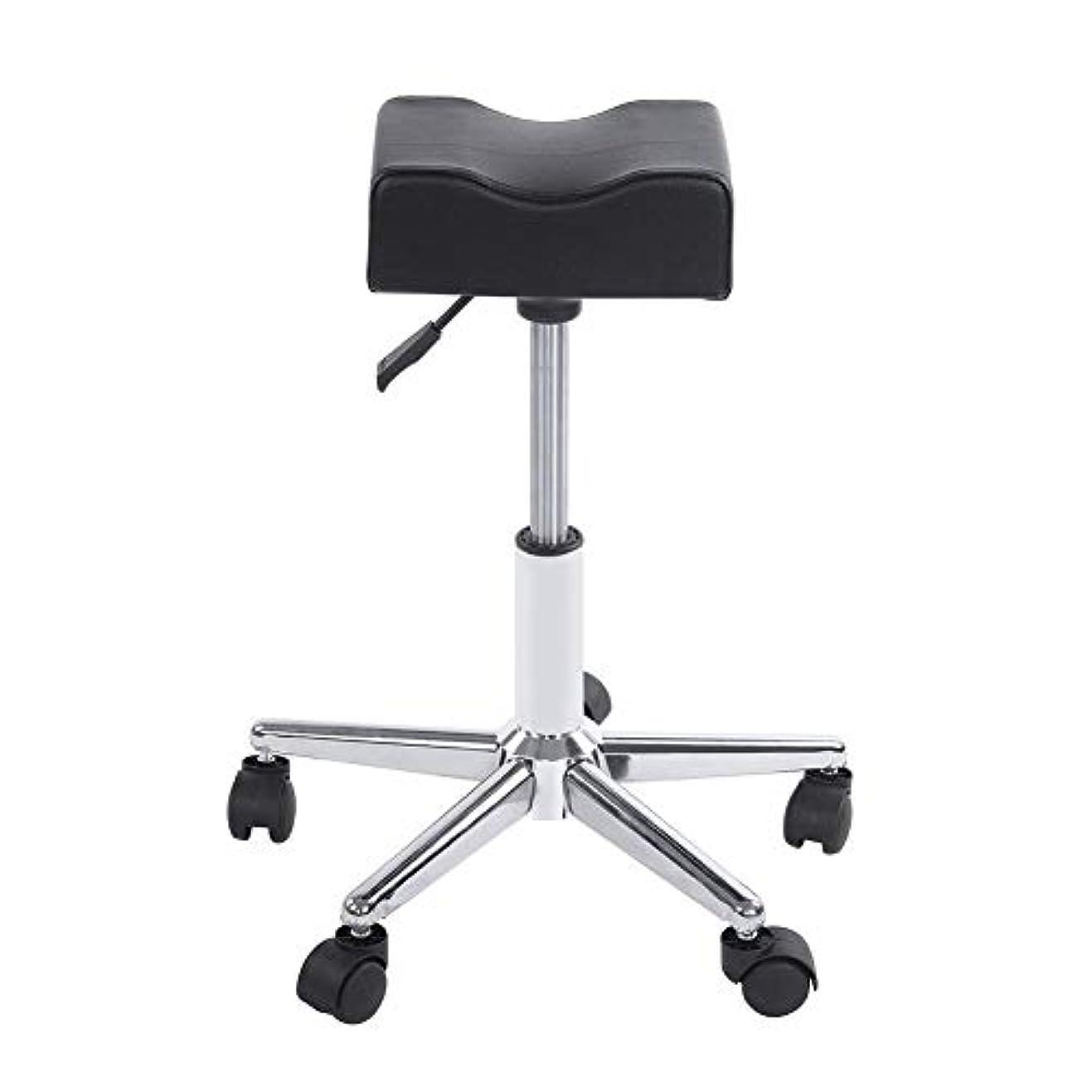 エンコミウムインカ帝国宿題ローリングスツール、高さ調節可能な回転椅子ネイルショップスツールチェア、サロンマッサージ、タトゥー、スパ用の快適なPuレザークッションシート