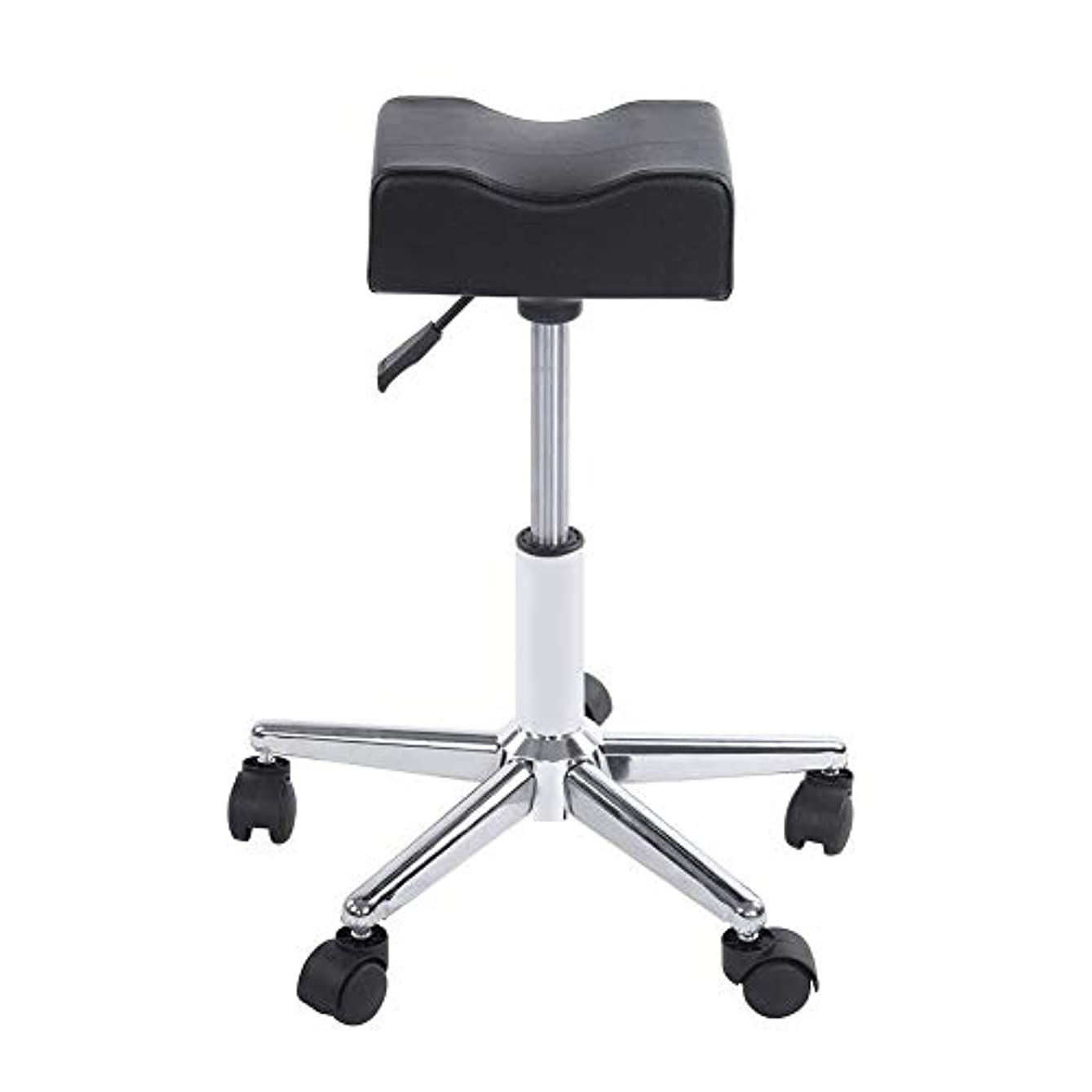 ジュース僕の翻訳者ローリングスツール、高さ調節可能な回転椅子ネイルショップスツールチェア、サロンマッサージ、タトゥー、スパ用の快適なPuレザークッションシート