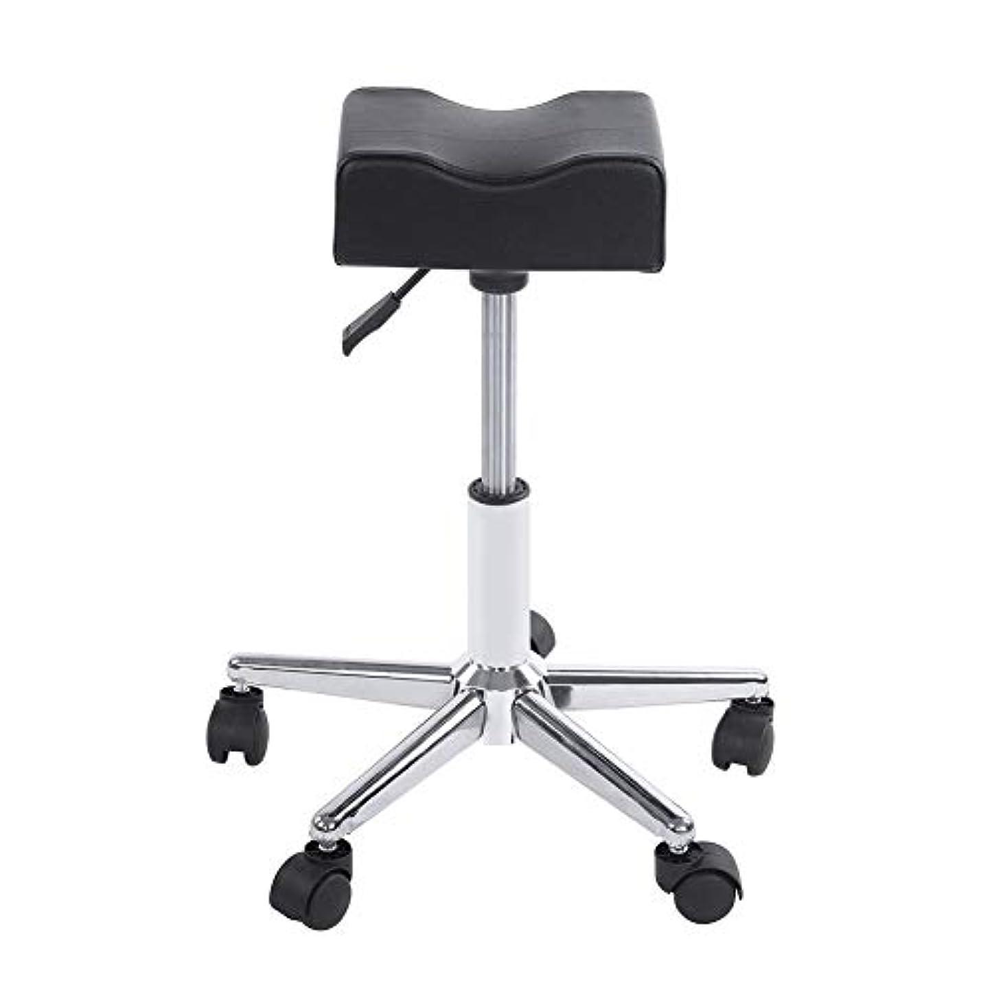 乱す打倒想起ローリングスツール、高さ調節可能な回転椅子ネイルショップスツールチェア、サロンマッサージ、タトゥー、スパ用の快適なPuレザークッションシート