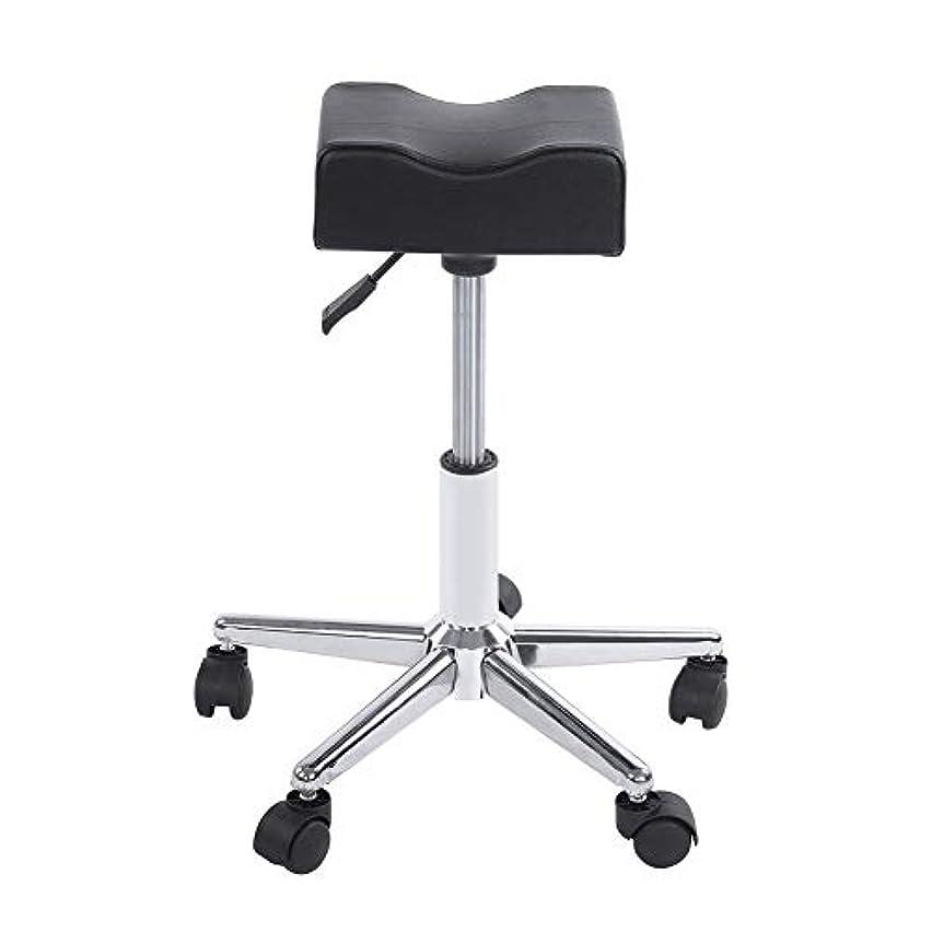 地平線有望現実ローリングスツール、高さ調節可能な回転椅子ネイルショップスツールチェア、サロンマッサージ、タトゥー、スパ用の快適なPuレザークッションシート