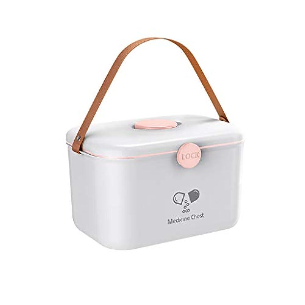 分割加速度過去Yxsd ロック可能な応急処置ケース、2層家族プラスチック医療収納容器ボックス、家庭用応急処置キット、応急処置収納ボックス (Color : White)