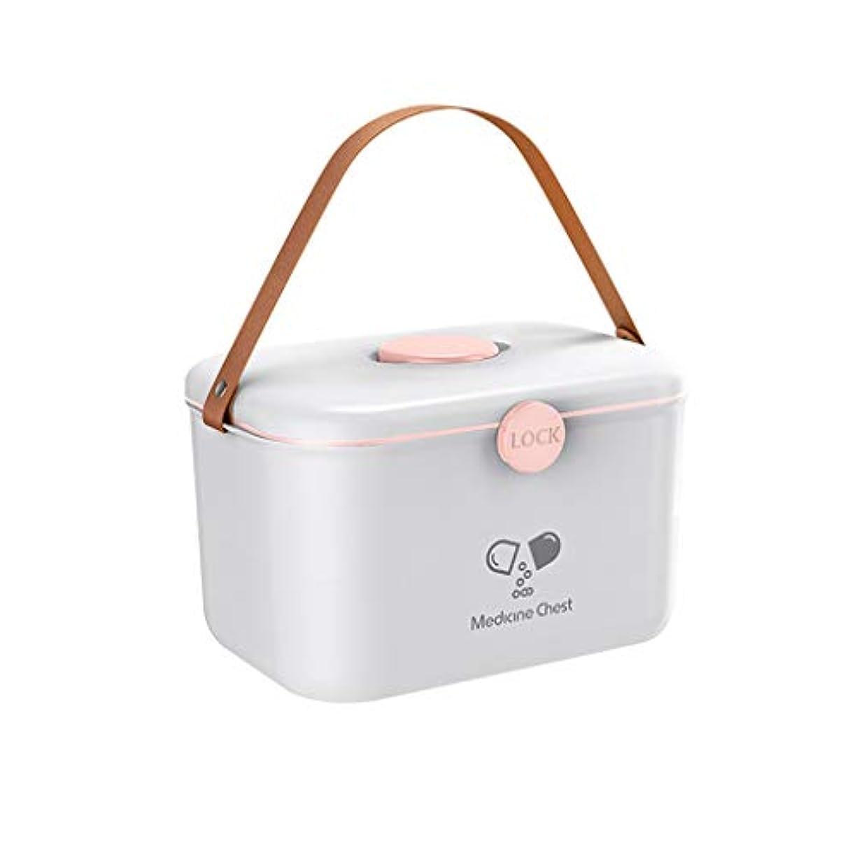凍る豚肉故障Yxsd ロック可能な応急処置ケース、2層家族プラスチック医療収納容器ボックス、家庭用応急処置キット、応急処置収納ボックス (Color : White)