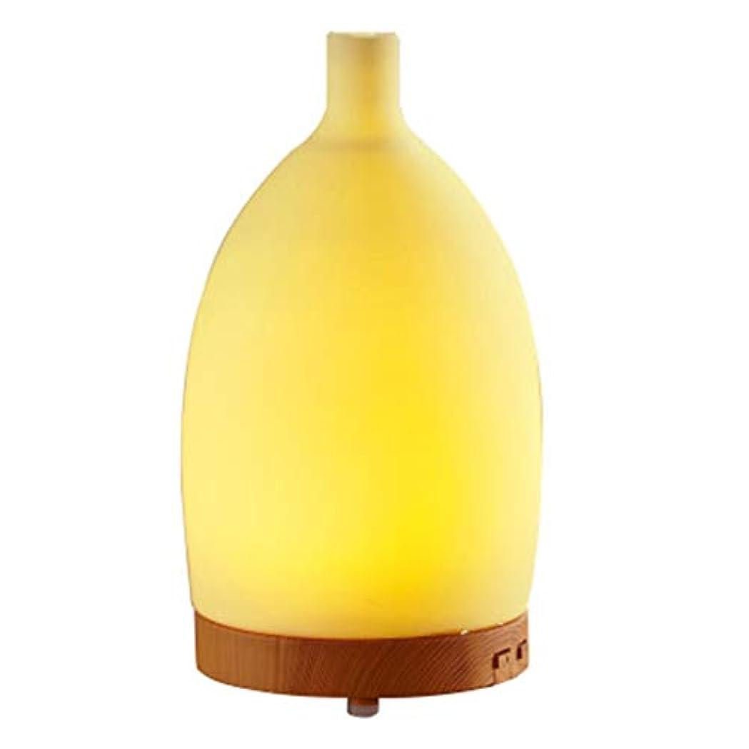敬可能性軽7つの可変性の色LEDライトが付いている100mlシリコーンの花瓶の加湿器のための精油の拡散器は水の自動オフ浄化の空気を浄化します (Color : Colorful)