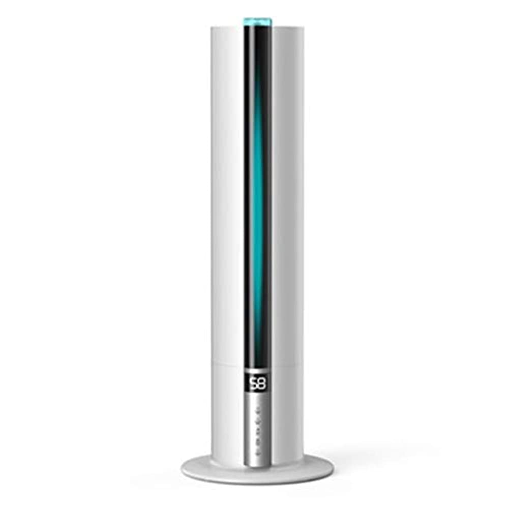 火傷グローバル積極的に超音波クールミスト加湿器7.5L超静音インテリジェント純恒湿、ウォーターレスオートオフ超静音(色:黒) (Color : White)