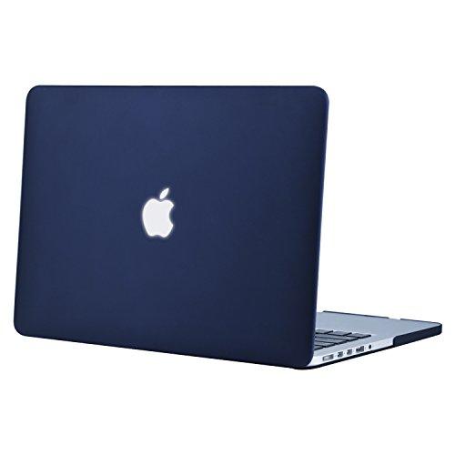 Mosiso - MacBook Pro Retina ディスプレイ 13インチ 薄型 耐衝撃 保護 ハードケース シェルカバー (対応モデル:2015 / 2014 / 2013 / 2012[A1425 / A1502] 光学ドライブ無し)(ネービーブルー)