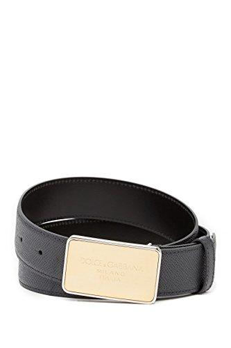 (ドルチェ&ガッバーナ) DOLCE&GABBANA ラグジュアリー レザー ベルト メンズ Textured Leather Belt (並行輸入品)
