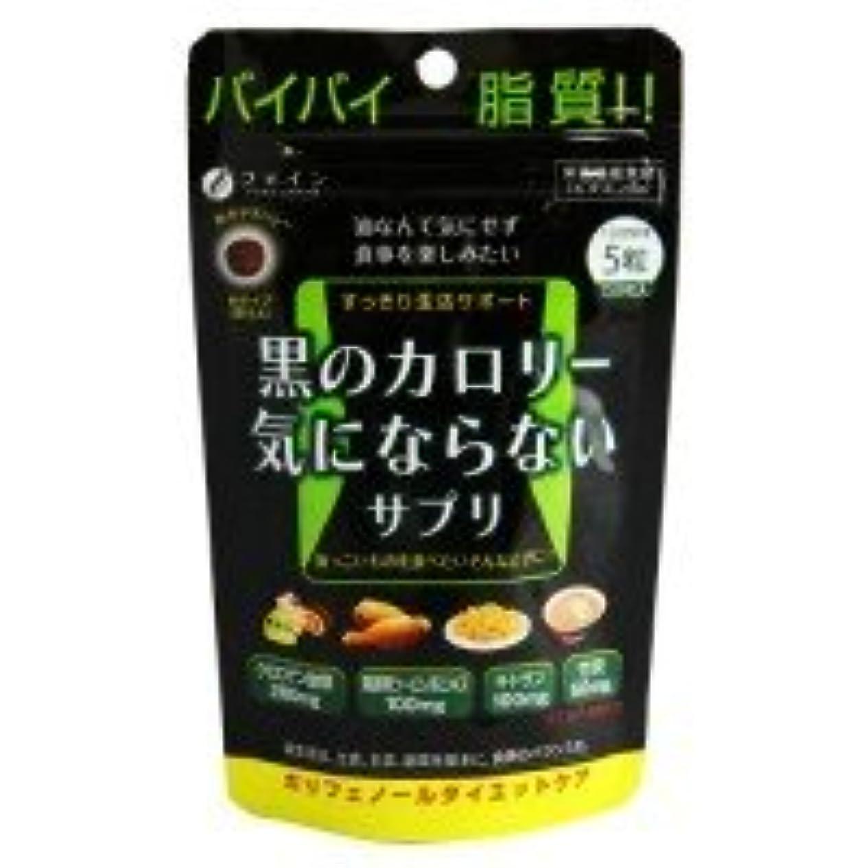 キャラクター意識電卓ファイン 黒のカロリー気にならない 栄養機能食品(ビタミンB6) 30g(200mg×150粒)