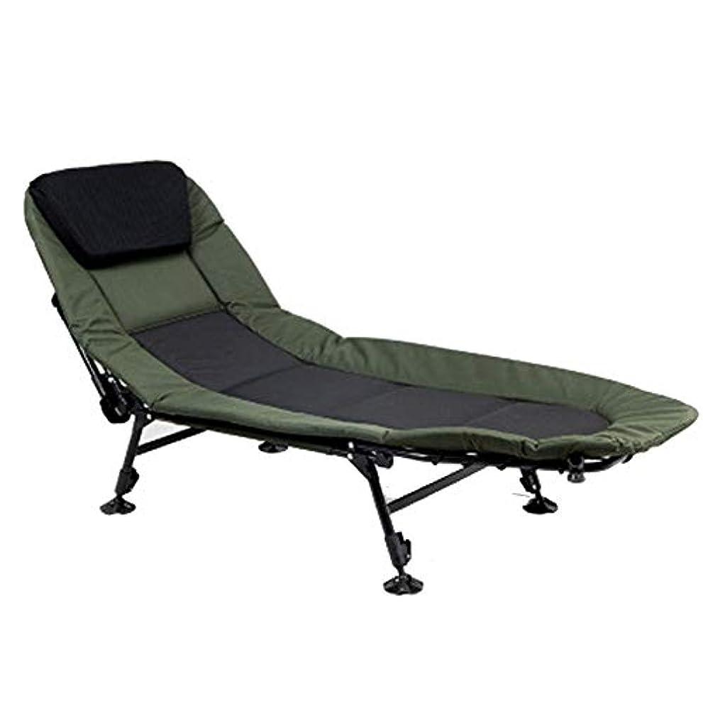 操る発表する振り子キャンプベッド折りたたみベッド屋外レジャー昼寝ベッド肥厚ダークグリーン (Size : A)