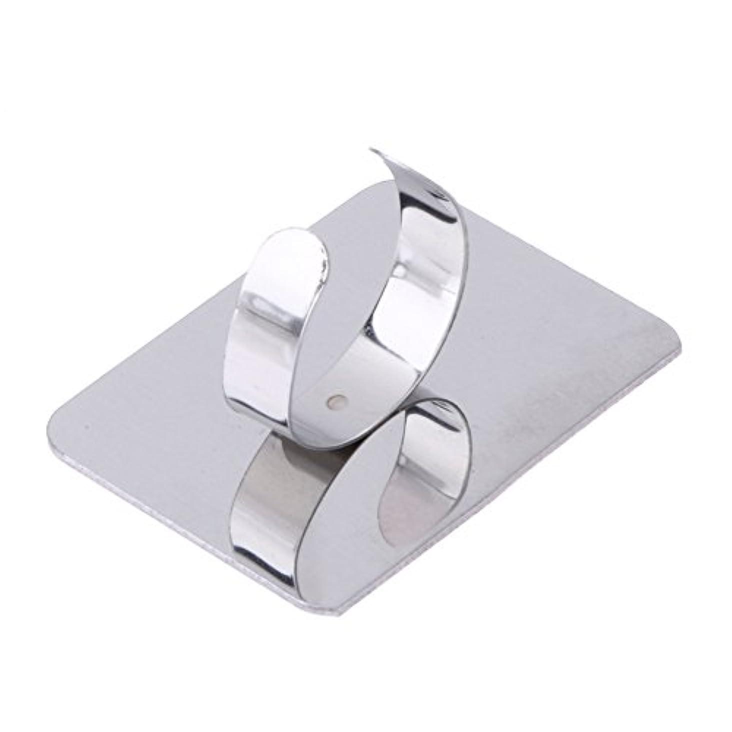 強風縫う掃くSNOWINSPRING ネールアートリキッドファンデーション混合化粧用のステンレス鋼パレット調節リング