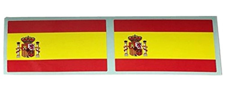 【 フラッグ 】 国旗 フラッグ ステッカー 5cm×3cm (2枚セット) (スペイン)