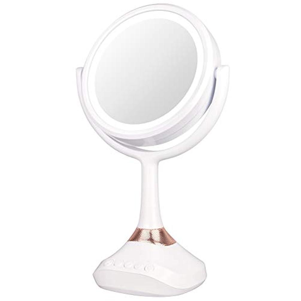 勧告モチーフ倍増XJZxX ブルートゥースLED音楽ミラー卓上化粧台ミラー付きスピーカー照明付き化粧鏡ライト付き化粧鏡 -美容アクセサリー