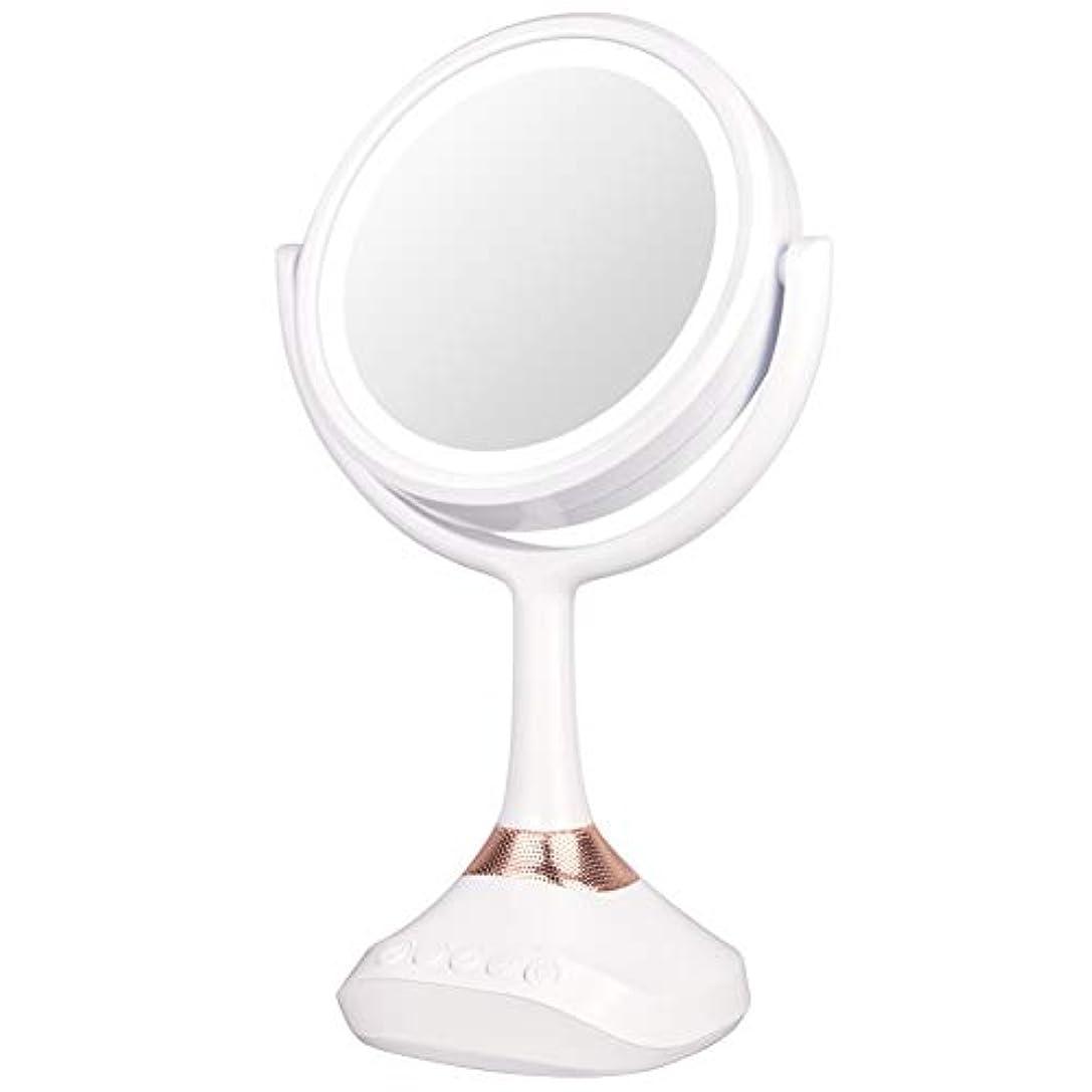 心からページ会計XJZxX ブルートゥースLED音楽ミラー卓上化粧台ミラー付きスピーカー照明付き化粧鏡ライト付き化粧鏡 -美容アクセサリー