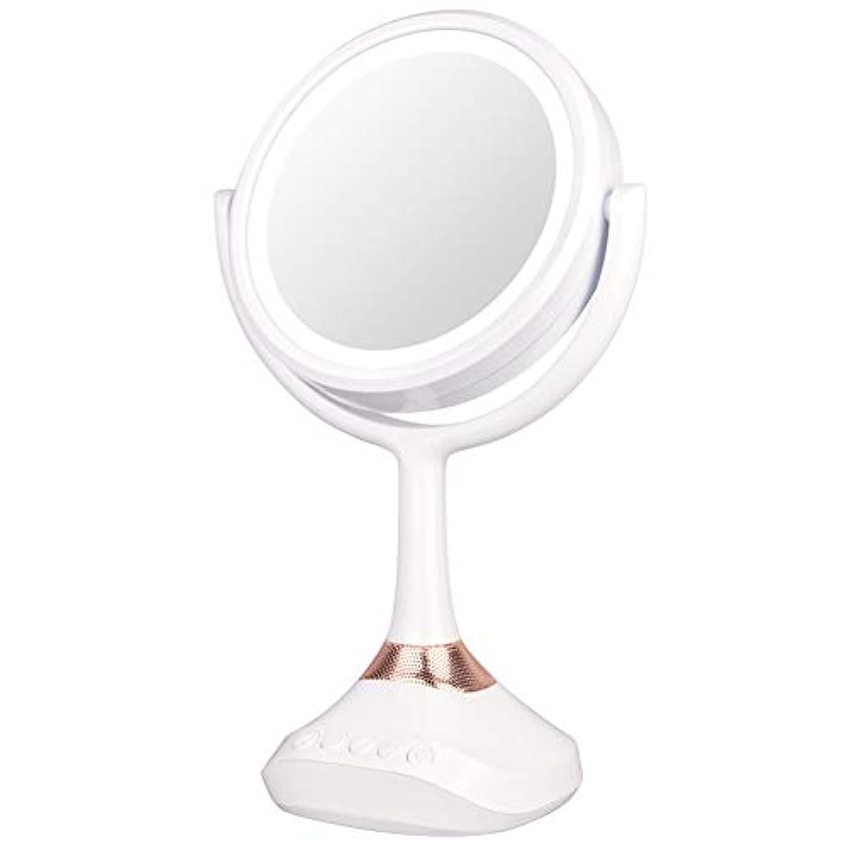 歯科の精巧な突撃XJZxX ブルートゥースLED音楽ミラー卓上化粧台ミラー付きスピーカー照明付き化粧鏡ライト付き化粧鏡 -美容アクセサリー