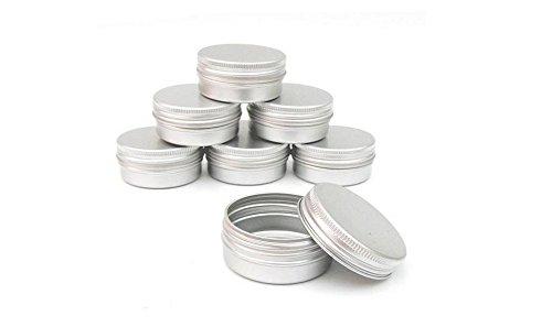3PCSラウンドメタルアルミ化粧ケース - バームネイルアートクリームDIY用ねじキャップ付きポットリップジャーティンケースの容器を作る化粧品/美容製品 (100ml)