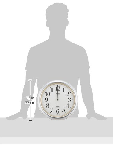 SEIKO CLOCK (セイコークロック) 掛け時計 電波 アナログ PYXIS (ピクシス) 銀色メタリック NA205S