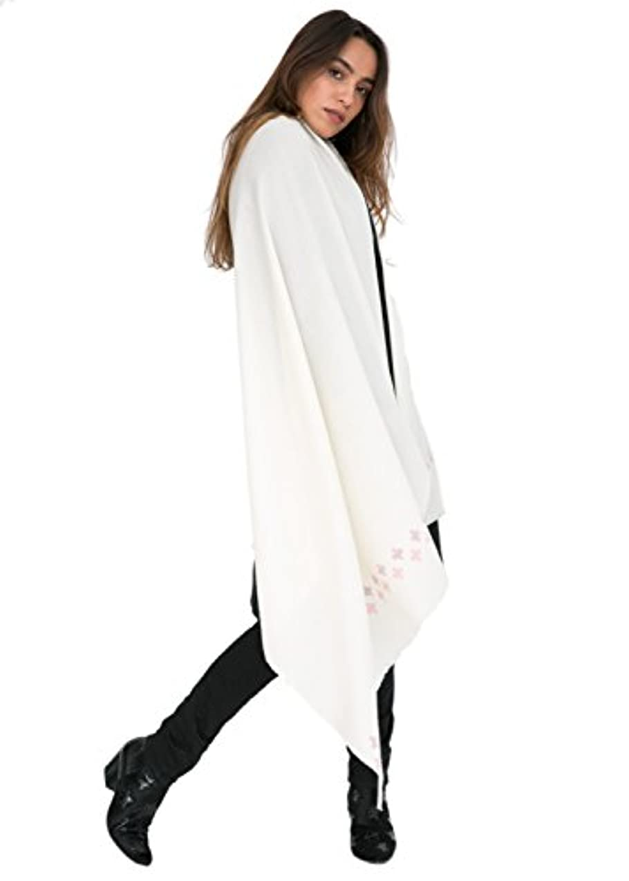 勝者安全警戒Handwovenパシュミナ& Blanket Scarf with crosses 100 x 200 cm
