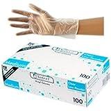 Sofeel Vinyl Gloves, Low Powder, Medium, Clear, HACCP Hazard Analysis and Critical Control Point, 100 per Box