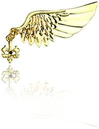 sewanzメンズ高級Diamantes角度翼形状スティックブローチピン、ラペルピンのスーツタキシード