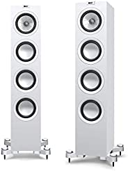 KEF Floorstanding Speaker for Small to Medium Rooms (Q550 Floorstanding Speaker White, Each)