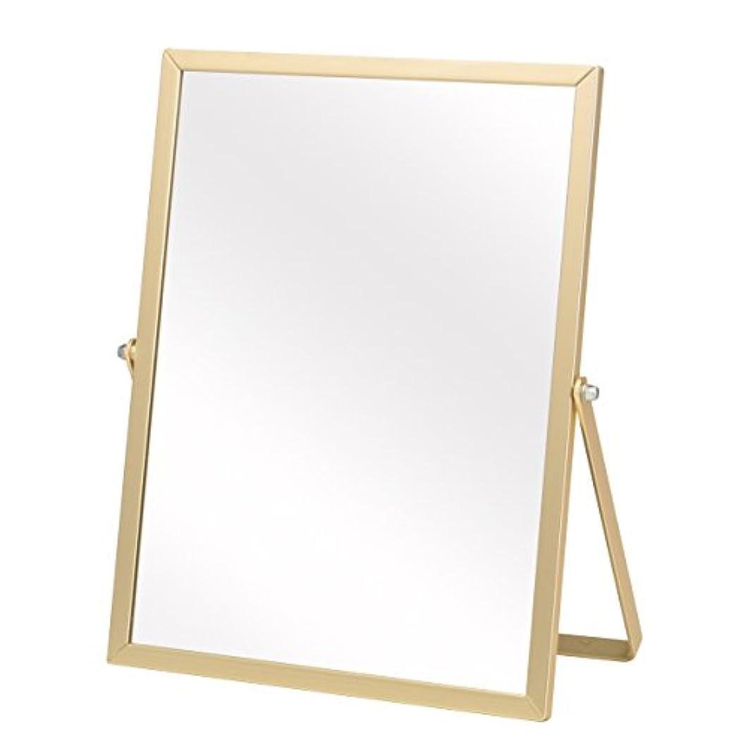 傾向があるオープニング保持する永井興産 アルミ卓上ミラーM ゴールド 幅18.5×高さ23cm