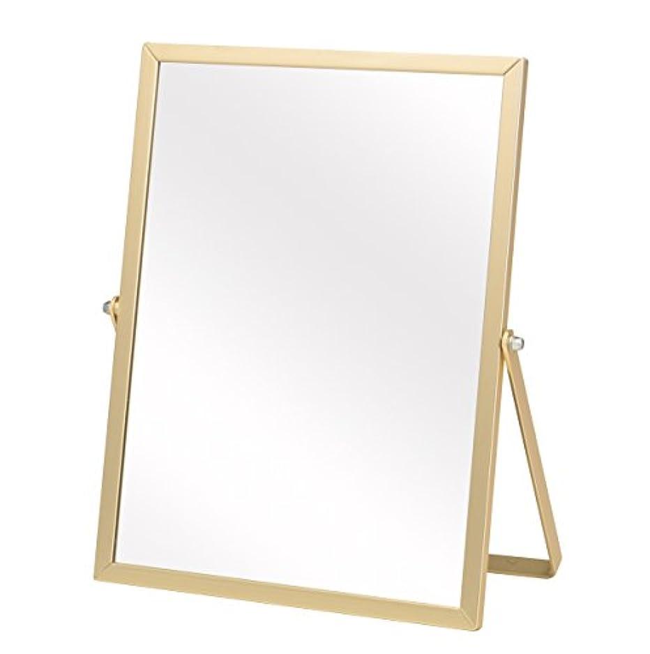 隙間うっかりに沿って永井興産 アルミ卓上ミラーM ゴールド 幅18.5×高さ23cm