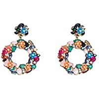 Colette Hayman - Multi Floral Wreath Statement Earrings