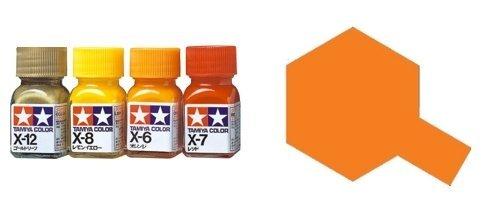 タミヤカラー エナメル塗料 光沢 X26 クリヤーオレンジ 10ml 80026