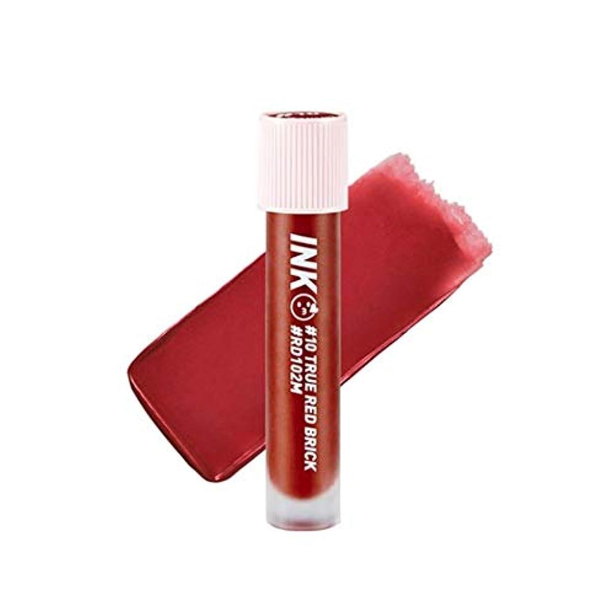 薬局コールド侵略ペリペラインクマトゥブラーティントリップティント韓国コスメ、Peripera Ink Matte Blur Tint Lip Tint Korean Cosmetics [並行輸入品] (#10 True Red Brick)