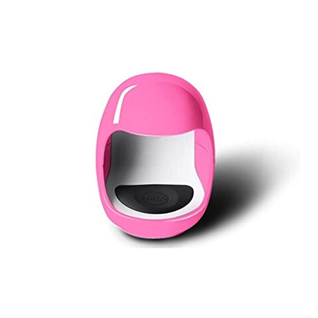 ビザ圧縮する誠実さLittleCat ネイル光線療法のミニUSB太陽灯ライトセラピーランプLEDランプ速乾性ネイルポリッシュベーキングゴム (色 : Pink without data cable)