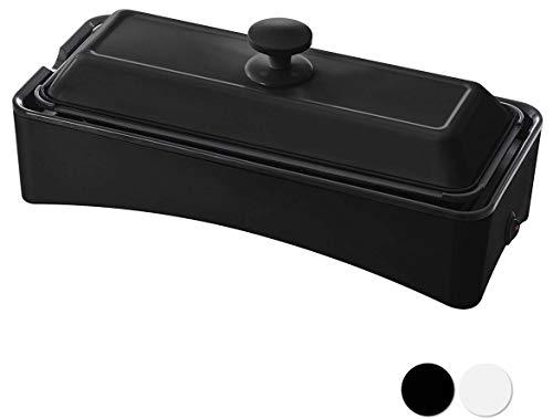 [山善] ホットプレート 2WAY スリム たこ焼きプレート付き YOF-W120(B [メーカー保証1年]