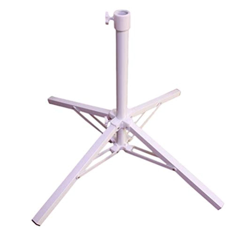 LIOOBO折りたたみ傘立てポータブル傘ホルダー折りたたみ日よけアンカー釣り用ビーチガーデン(白)