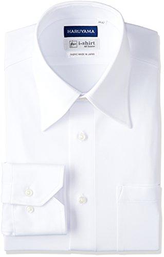 (はるやま) HARUYAMA(ハルヤマ) i-shirt 完全ノーアイロン 長袖 レギュラーアイシャツ M151180041 01 ホワイト L84(首回り41cm×裄丈84cm)