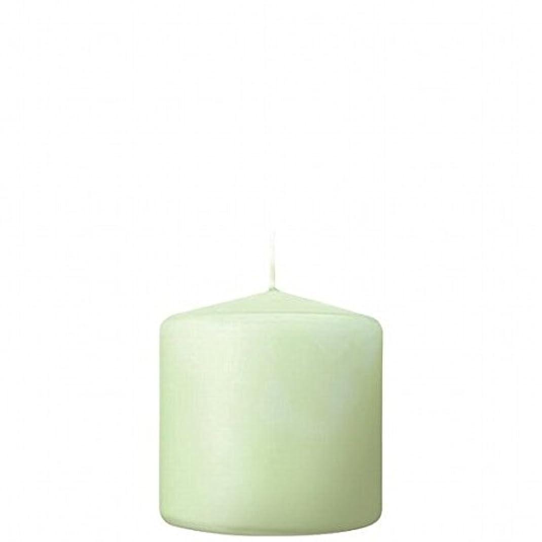 希少性グリーンランドショートkameyama candle(カメヤマキャンドル) 3×3ベルトップピラーキャンドル 「 ホワイトグリーン 」(A9730000WG)