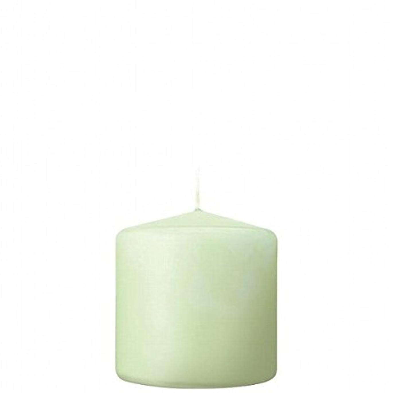 石の落胆する雪kameyama candle(カメヤマキャンドル) 3×3ベルトップピラーキャンドル 「 ホワイトグリーン 」(A9730000WG)
