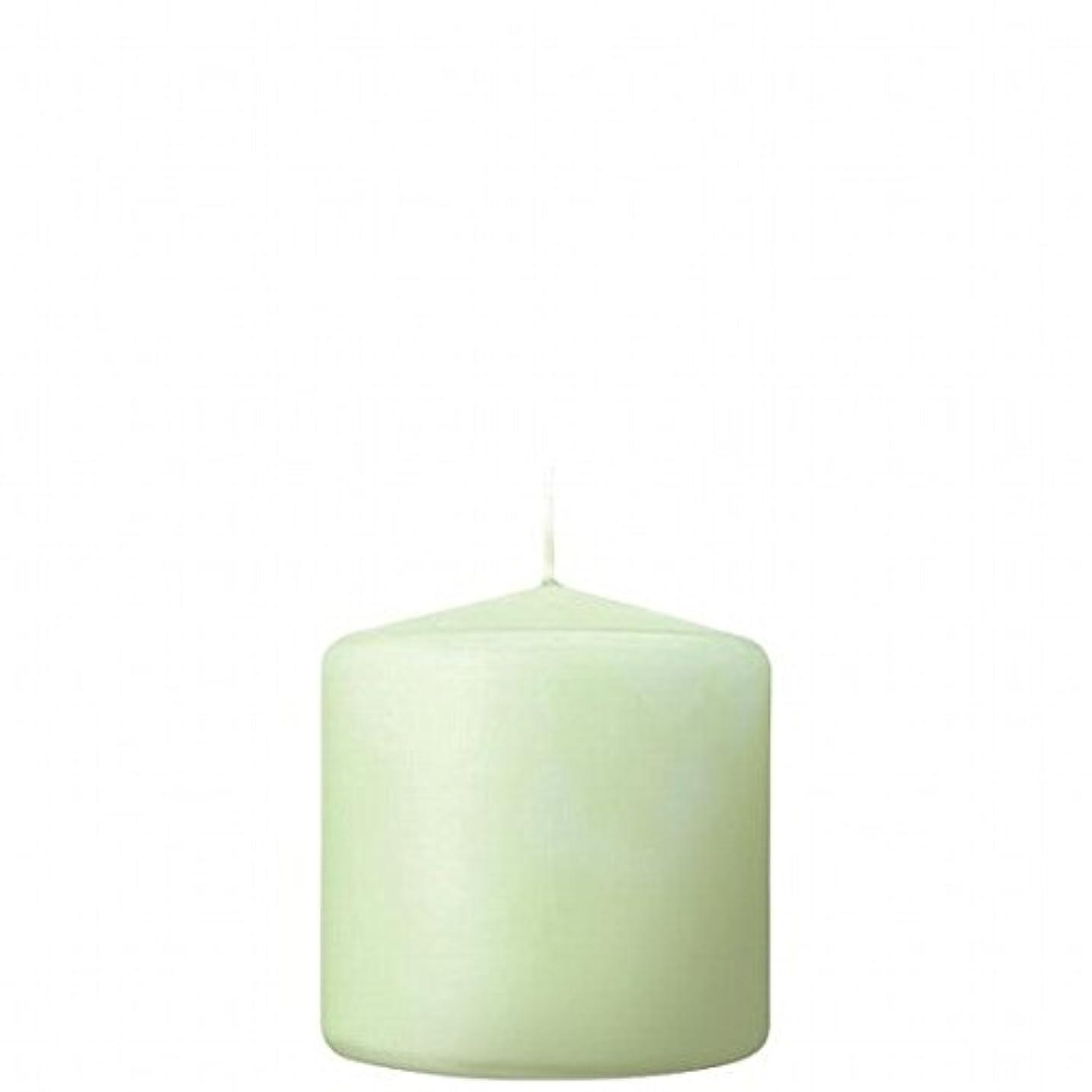 絶対のひねくれた結婚したkameyama candle(カメヤマキャンドル) 3×3ベルトップピラーキャンドル 「 ホワイトグリーン 」(A9730000WG)