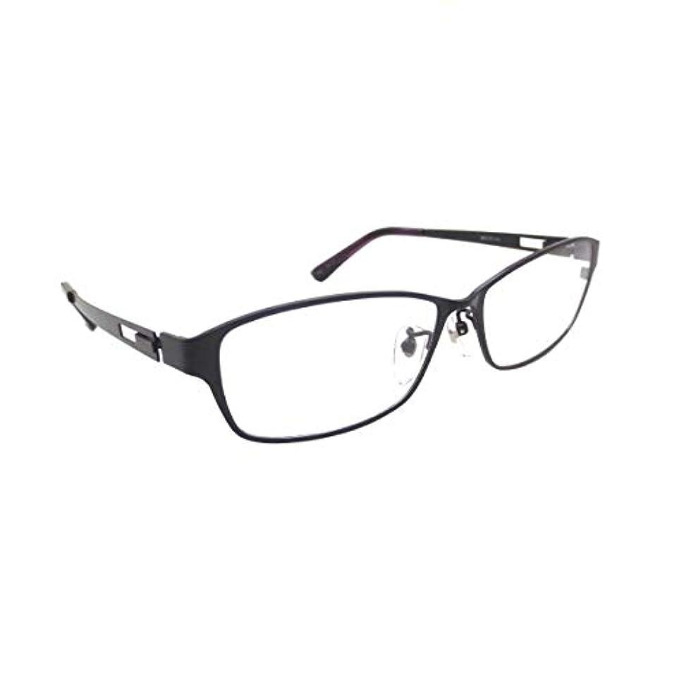 メタルフレーム メガネ X 0440-4(56)ブラック&ブラック