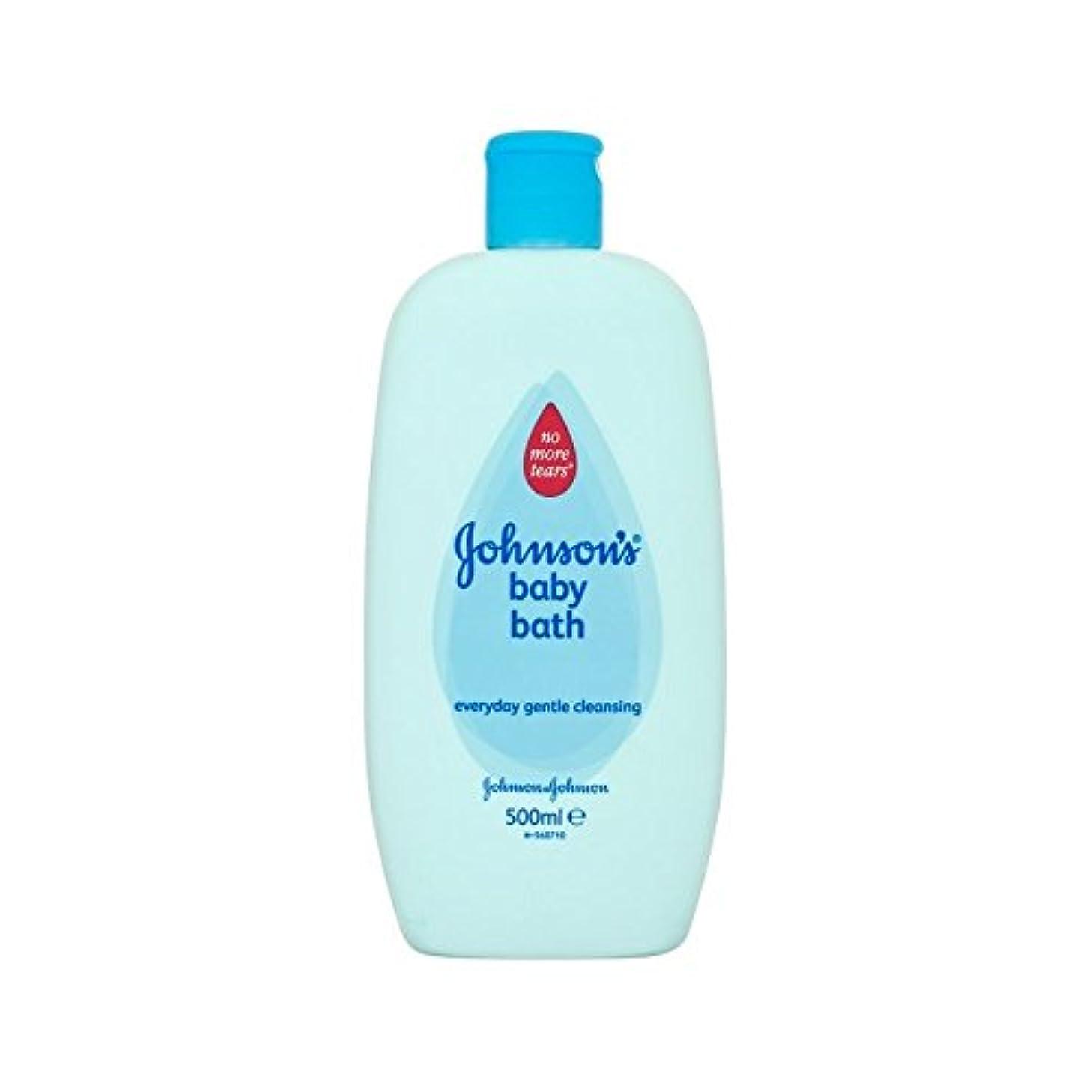 やるキャメル洗うバス500ミリリットル (Johnson's Baby) (x 4) - Johnson's Baby Bath 500ml (Pack of 4) [並行輸入品]