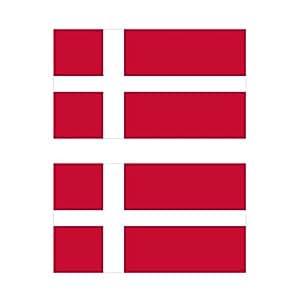 デンマーク 国旗 フェイス シール 2枚入り  <水転写タイプ>  ( 国旗 ペイント タトゥー シール )