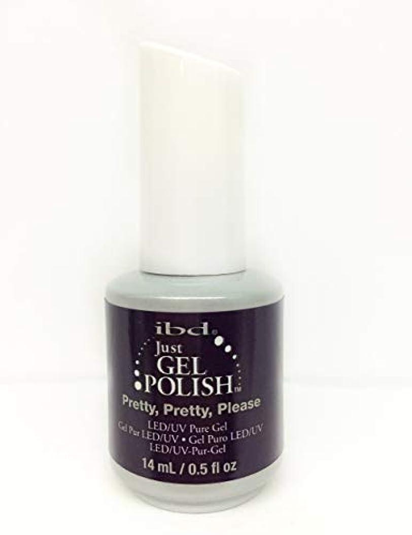 ヘクタールふりをする汚染ibd Just Gel Nail Polish - Pretty, Pretty, Please - 14ml / 0.5oz
