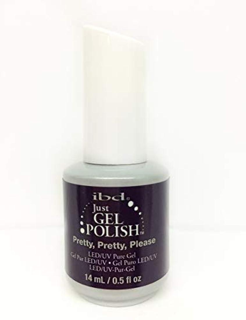 海賊匹敵します試用ibd Just Gel Nail Polish - Pretty, Pretty, Please - 14ml / 0.5oz