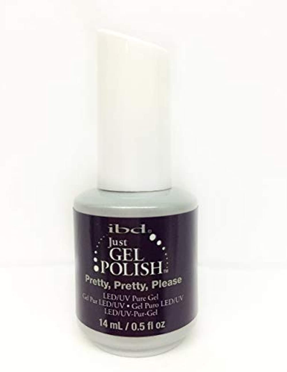 スマッシュ放棄団結ibd Just Gel Nail Polish - Pretty, Pretty, Please - 14ml / 0.5oz