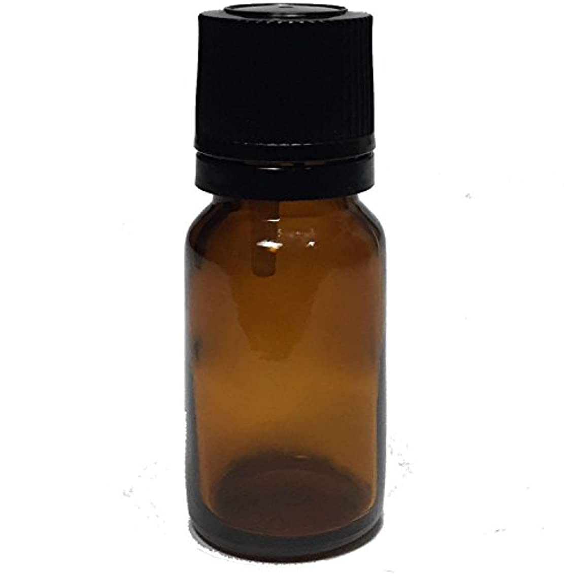 風刺スラッシュ従者エッセンシャルオイル用茶色遮光瓶 ドロッパー付き 黒キャップ 10ml ガラスビン 10本セット