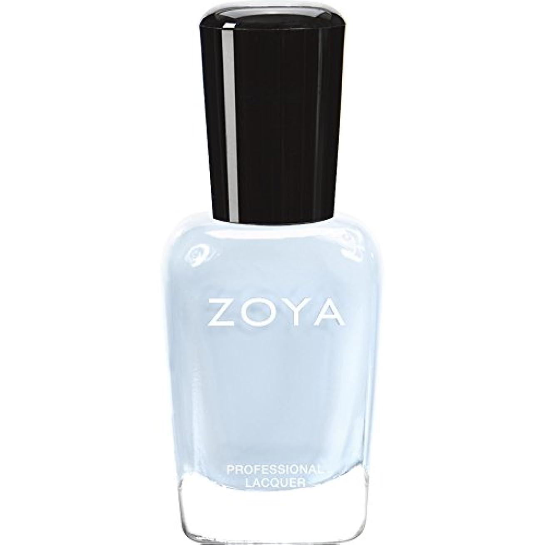 消去雲接触ZOYA ゾーヤ ネイルカラー ZP653 BLU ブルー 15ml  2012 LOVELY COLLECTION 光沢のある淡いベビーブルー マット 爪にやさしいネイルラッカーマニキュア