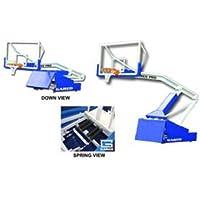 Garedスポーツ9616 8 ft。Gared Pro Sポータブルバスケットボールシステム拡張子ポータブルバスケットボールBackstops Fiba承認