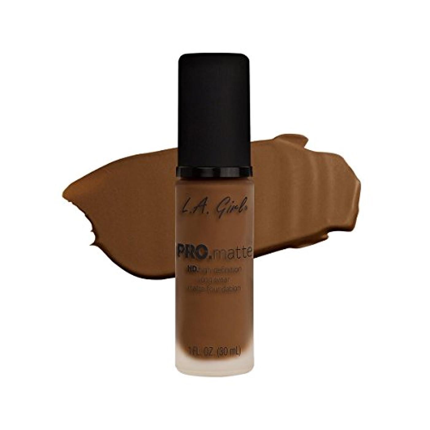 役に立たないガイダンス有効な(3 Pack) L.A. GIRL Pro Matte Foundation - Cappuccino (並行輸入品)