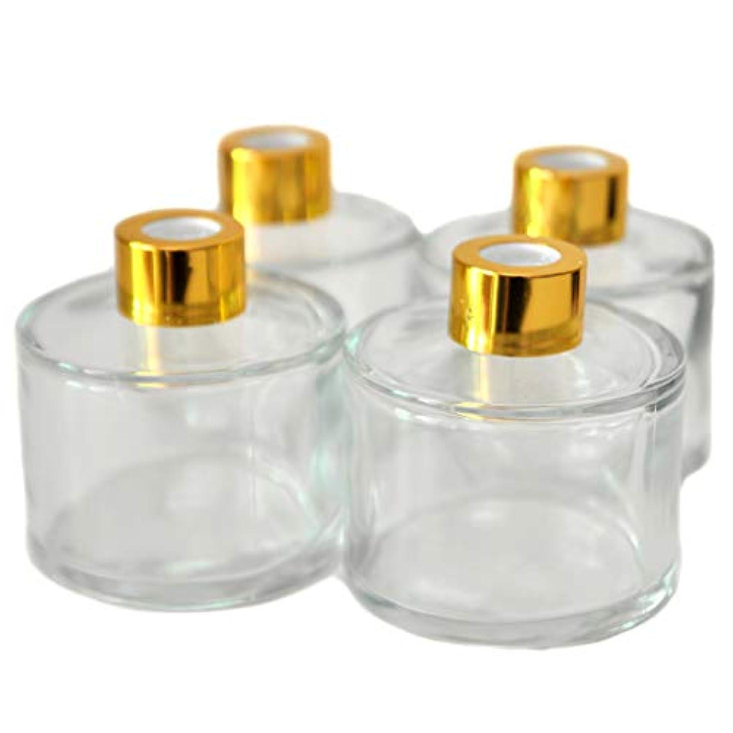 職人言い直すスキム4本入円筒形のアロマ精油拡散ボトル、100mlオフィス、ショップ、ホームアロマガラスボトル