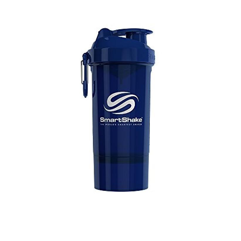 優先権余剰義務的SmartShake(スマートシェイク) SmartShake ORIGINAL2GO ONE 800ml Navy Blue 多機能プロテインシェイカー ネイビーブルー 800ml大容量 コンテナ1段タイプ
