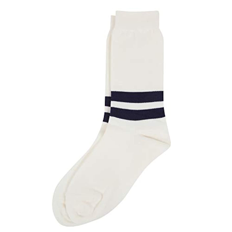 吸収する曲がった失速Deol(デオル) ラインソックス 男性用 メンズ [足のニオイ対策] 長期間持続 日本製 無地 靴下 白 25cm-27cm