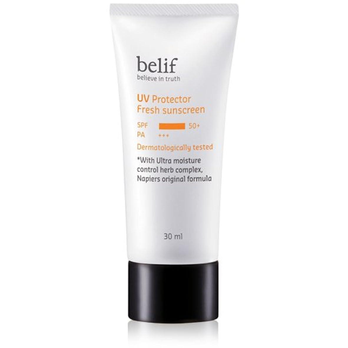 スキャン遊び場余韻Belif(ビリーフ) UV Protector Fresh sunscreen 30ml/ビリーフUVプロテクターフレッシュサンスクリーン