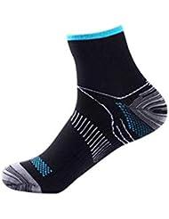 快適な男性の女性の膝の靴下のサポートストレッチ通気性の靴下の下の短いストレッチ圧縮の靴下